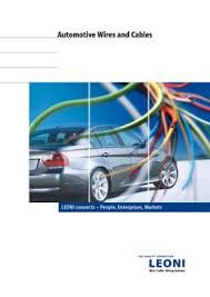 leoni wiring in automotive wires and cables by leoni