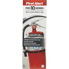 first alert rechargeable commercial fire extinguisher pro10 do