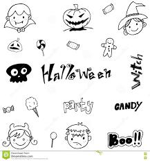 doodle of cute halloween for kids stock vector image 73017968