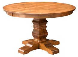 Amish Oak Dining Room Furniture Expandable Round Pedestal Dining Table Interior Design