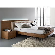 Walnut Bed Frame Edge Walnut 4 Bedroom Set Floating Bed Dcg Stores