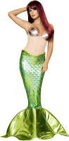 Mermaid Costumes Halloween Women Underwater Sea Nymph Beauty Mermaid Costume Halloween