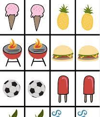Backyard Picnic Games - backyard bbq picnic printable bingo and memory game kids korner