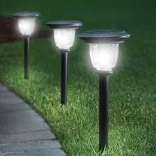 the best solar walkway light hammacher schlemmer for the