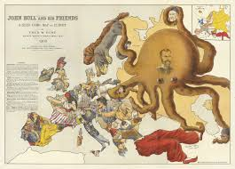 European Country Map by These Colorful Propaganda Maps Fueled 20th Century Wars