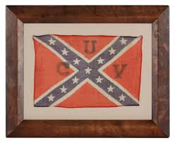 Flag With Cross And Stripes Jeff Bridgman Antique Flags And Painted Furniture Rectangular