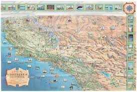 Southern Ca Map 1969 Automobile Club Of Southern California A Pictorial Map Of