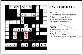 make your own save the dates crossword save the dates wedding ideas