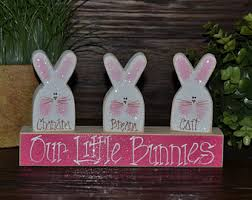 personalized easter easter block set easter bunny personalized wood block set