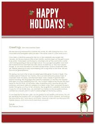elf letter template printable elf family holiday letter template
