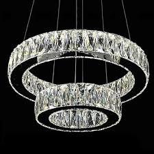 Modern Chandeliers Uk Led Chandelier Lights Modern Lighting Two Rings D2040 K9