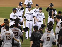 video benches clear in san diego after heated exchange between