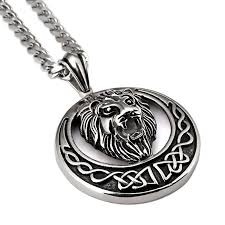 aliexpress buy nyuk mens 39 hip hop jewelry iced out nyuk vintage silver lion pendant necklace fashion hip hop