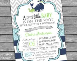 whale baby shower invitations whale shower invite etsy