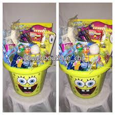 filled easter baskets spongebob squarepants kids easter basket easter 2016 filled