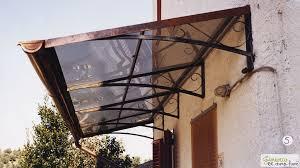 tettoia ferro battuto tettoia in ferro e policarbonato idee di design per la casa