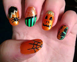 easy halloween nail art designs diy halloween nail art cute amp