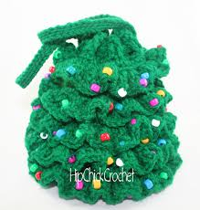 free crochet christmas tree pattern christmas lights decoration