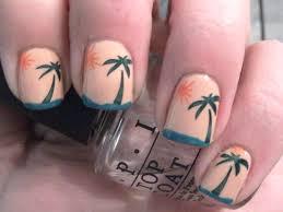 tropical sunset nail art polish me please