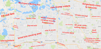 Map Of Chicago Suburbs by The Judgmental Map Of Detroit U0027s West Suburbsthe Black Sheep