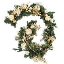 gold glitter ornament garland hobby lobby 5026315