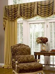striped board mount swag window valance with bells stunning swag