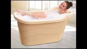 Collapsible Bathtub For Adults Portable Bathtub For Deep Soak Youtube