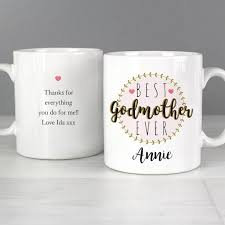 godmother mug personalised best godmother mug godmother thank you gifts