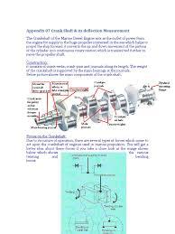 crank shaft u0026 its deflection measurement engines diesel engine