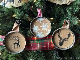easy embossed jar lid ornaments
