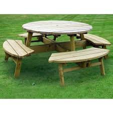 Free Plans For Round Wood Picnic Table by Garden Bench Plans For Free Wood Furniture