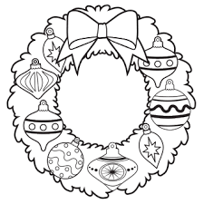 ornament wreath coloring free christmas recipes coloring