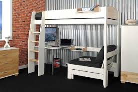 Urban Game High Sleeper White And Birch Finish Free UK - High bunk beds