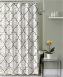 Gray And Brown Shower Curtain - shower curtain taupe and gray quatrefoil damask decorative fabric