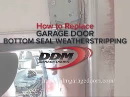 how to replace garage door bottom seal weatherstripping youtube
