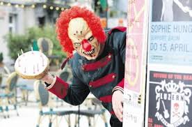 clowns for birthday in ny evil birthday clown will stalk and attack your child for a fee