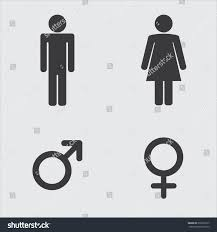 Man Woman Bathroom Symbol Man Woman Toilet Sign Male Female Stock Vector 376532617