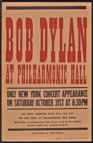 bob dylan u2013 1964 philharmonic hall u201challoween concert u201d poster