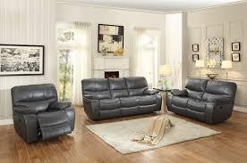 Grey Sofa Recliner Homelegance Pecos Power Reclining Sofa Set Leather Gel Match
