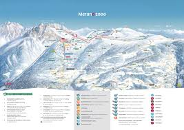 Mountain Ranges World Map by Ski Map Meran 2000 Italy