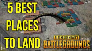 5 best places to land in battlegrounds erangel