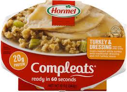 hormel compleats turkey dressing 10 oz sleeve walmart