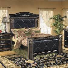 Mansion Bedroom Signature Design By Ashley Coal Creek Upholstered Queen Mansion