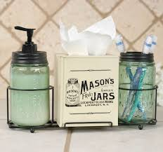 mason jar bathroom accessories dact us