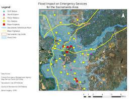 Map Of Sacramento Using Gis To Determine Flooding Issues For The Sacramento Area