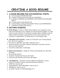 A Great Resume Template How To Create A Great Resume Free Resume Example And Writing