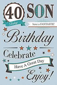 son 40th birthday card amazon co uk kitchen u0026 home