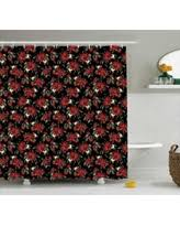 Pink And Black Bathroom Accessories by Deal Alert Shabby Chic Shower Curtain Nature Garden Romantic