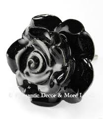 black rose ceramic knobs cupboard drawer pulls u0026 handles set 2pc