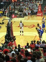 toyota center toyota center section 113 row 16 seat 9 houston rockets vs